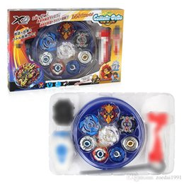 new beyblade sets Australia - New 4PCS Beyblade Burst set 4D Launcher Arena Metal Fight Battle spinning top Fusion Classic Toys Original Box Gift