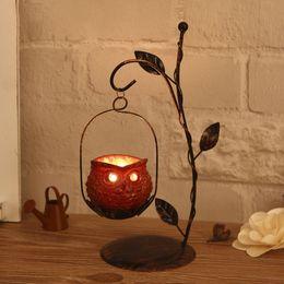 $enCountryForm.capitalKeyWord Australia - Owl Candlestick Iron Candle Holders Decorative Ornaments Cafe Home Decoration Resin Lanterns Candles Creative Christmas Gifts ZJ0179