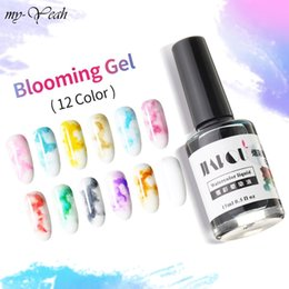 Wholesale Monja ml Nail Art Blooming Gel Watercolor Ink Smoke Effect Smudge Bubble Polish Liquid Varnish Nail Decoration Manicure Tools