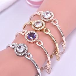 Wear Bracelet Australia - New Rose Gold Popular Bracelet with Eight Hearts and Eight Arrows Zircon Simple Female Wearing Bracelet Korean Crystal Jewelry