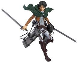 $enCountryForm.capitalKeyWord Australia - Japanese Anime Attack On Titan 6 inch Levi MovablePVC Figure Toys Figma Figure