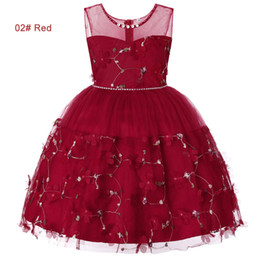$enCountryForm.capitalKeyWord NZ - summer 4 to 14 years Girls Rhinestone pearls tutu dress, pink red purple green blue, kids & teenager boutique tulle clothes, R1AAX808DS-06