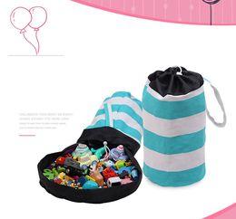 Storage Blocks Australia - Children toy storage bag of Building blocks, plush toys Portable Kids Toy Bundle pocket for all kinds of toys