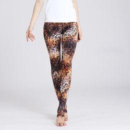$enCountryForm.capitalKeyWord Australia - Womens Leopard Leggings Compression Tights Elastic Waist Yoga Leggings for Running Flexible Long Pants Jeggings Womens