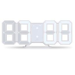 Ingrosso Orologio da parete a LED 3D Moderno orologio da parete digitale Display da cucina per la casa Scrivania da ufficio Scrivania da parete 24 ore su 24 o 12 ore