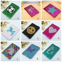 love notebooks Australia - NEW Girls DIY Mermaid Magic Sequin Journal Notebooks Love Heart Unicorn Ball Sequin Office Notepads School Diary Stationery Gift
