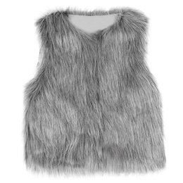 Discount cheap branded kids clothes - Cute Girls Waistcoat Fur Vest Warm Vests Sleeveless Coat Children Cheap Outwear Winter Coat Baby Clothes Kids Clothing G