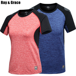 $enCountryForm.capitalKeyWord Australia - Ray Grace Quick Dry Patchawork Breathable For Men Women Summer Cooling Sportswear T Shirt Outdoor Tees Hiking Trekking Clothes C19041201