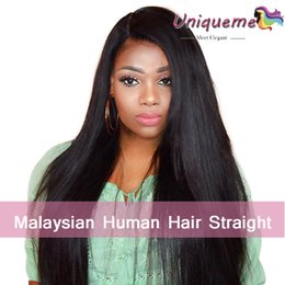 Discount weaves for african hair - Malaysian Hair Weave Unprocessed Virgin Human Hair Extensions Straight Hairstyle Silky Straight 8-28''4 Bundle