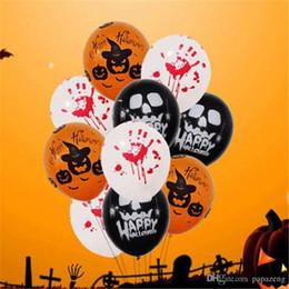 Halloween Decor Skeleton Australia - 2018 50PCs Halloween Props Free shipping Wholesales Latex Balloon Skeleton Blood Hand Latex Balloon Home Decor