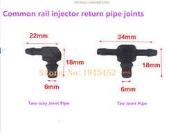 common rail NZ - Common Rail Injector Return Oil Backflow Pipe Connector Plastic Two way and Tee Joint Fitting for B-osch Injectors