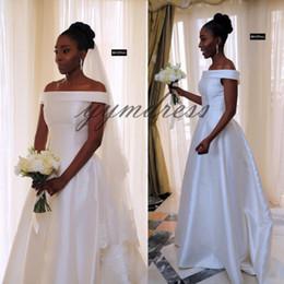 Plus Size Floor Length Dresses Vintage Australia - 2019 Vintage Wedding Dresses Bateau Neck Floor Length Plus Size Beach Bridal Gowns Vestido De Noiva Custom Made