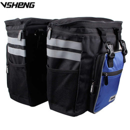 ReaR Rack bike bag online shopping - Large Capacity Removable Cycling Bag Rain Cover Bicycle Rear Tail Bag Travel Cycling Storage Rack Trunk Bag Bike Pack A2