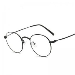 4d1715e6df Women Metal Frame Plain Mirror Unisex Fashion Vintage Glasses Big Optical  Frame Eyeglass Retro Clear Lens LLA256