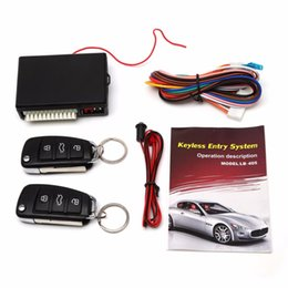 keyless car remotes Canada - Universal Car Alarm Systems Auto Remote Central Kit Door Lock Keyless Entry System Central Locking with Remote Control LB-405