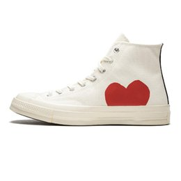 Plastic Red Heart Australia - 2019 Designer Conver Big Red Eyes Hearts Brand Casual Shoes All Stars Canvas Beige Black Lover Fashion Skateboarding Sports Sneakers 35-44
