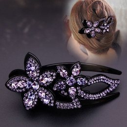 Crystal Plastic Hair Clip Australia - New Clamps Hair Jewerly full Diamond Swarovski two follower Hair Clips Claws Luxury Shine Crystal Quality Clips Free DHL