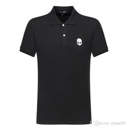 polo hot t shirts 2019 - 2019 High Quality fashion t shirt Crew Neck PP skull Hot drilling mens designer t shirts casual polo women's clothi