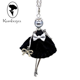 $enCountryForm.capitalKeyWord UK - ecklace women Hot Sale!! Cute Yarn Cloth Bowknot Dress Doll Necklace Women Jewelry stores Christmas Gifts Jewelry Accessories Top-rated N...