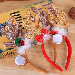 $enCountryForm.capitalKeyWord NZ - 2019 new Kids Christmas cornu cervi style Hair Sticks with bell girl Christmas Hairband for party child Hair Accessories for gift