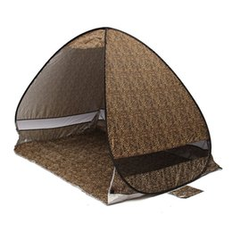 open beach tent Australia - Quick Automatic Opening beach tent sun shelter UV-protective tent shade lightweight pop up open for outdoor camping fishing