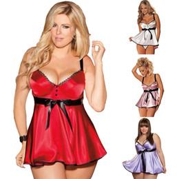 lingerie braces skirt Chemise babydoll Teddy nightdress dark V pajama hot  Silk-like sleepwear sleeveless nightgown Add rim cup reflective a19af53ca