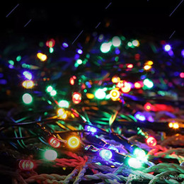 AutomAtic christmAs light online shopping - Outdoor Solar panel Powered Colors M m Light LED led String Fairy Automatic Garden Waterproof Decor for Christmas Party Wedding