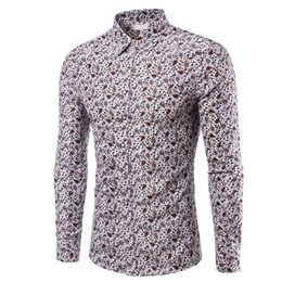 Springs Fasteners Australia - good quality 2019 Brand Men Shirt Spring Summer Long Sleeved Slim Fit Patchwork Fastener Camisa Masculina Top Blouse New