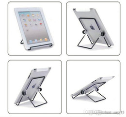 Adjustable Metal Stand For Tablet Australia - best Iron Metal Adjustable Folding Holder Stand For A13 Q88 Android tablet PC smart phone Hotsale free shipping 2019