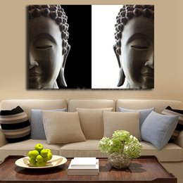 Bedroom Painting Portraits Australia - Buddha Statue Portrait Buddhism HD Art Canvas Modern Poster Painting Wall Picture Print Home Bedroom For Living Room Decoration