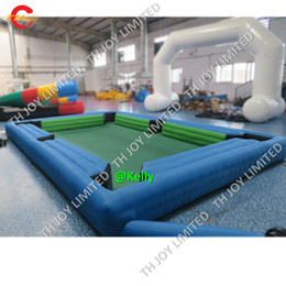 Snooker billiard pool online shopping - outdoor custom made inflatable snooker football soccer game for sale commercial portable inflatable billiard snooker table pool sport game