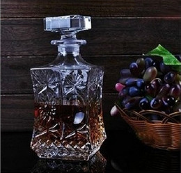 Wholesale Crystal Glass Red wine Bottle Wine Decanter Whiskey Liqour Pourer Home Bar Vodka Beer Bottle Jar
