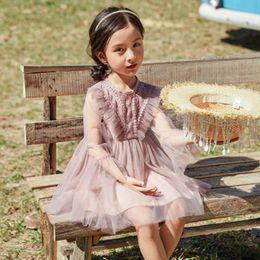 52652a7fd28a 2019 New Girls Dress Spring Korean Children s Big Children s Clothing  Foreign Girls Mesh Lace Princess Skirt 1710504136DXF