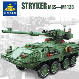 Chinese  KAZI 10001 Century Military MGS-M1128 TANKS Building blocks set Armored vehicles DIY Bricks Toys for Children manufacturers