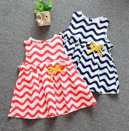$enCountryForm.capitalKeyWord NZ - Lovely Princess Children's Dresses 2019 Summer New Striped Big Wave Girl Baby Sleeveless Dresses kids Clothes For 1-3 Years Old B03