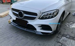 $enCountryForm.capitalKeyWord Australia - B Style PP material Bumper Bright black Front Lip For BENZ C Class W205 C180 C260 C300 1 order