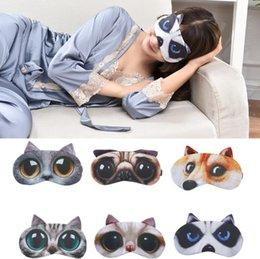 Shades Christmas Australia - Cartoon 3D Lovely Animal Printing Sleeping Eye Mask Nap Eye Care Shade Blindfold Sleep Mask Eyes Cover Sleeping Free Shipping