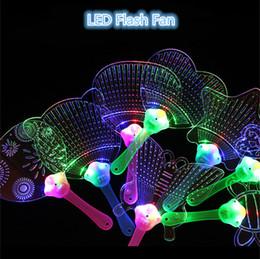 $enCountryForm.capitalKeyWord Australia - LED Flashing Fan Cartoon Luminous Flicker Light Fan Pushan Advertising Gift LED Flash Lights Fan Stage Props Kids Toys Christmas Toy 8 Style