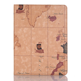 $enCountryForm.capitalKeyWord Australia - 3 Colors Exquisite Map Ultra-thin Case for Ipad Pro for Ipad Mini 2 3 4 Series Leather Wallet Case with Holder and Folio Cover for Ipad Air