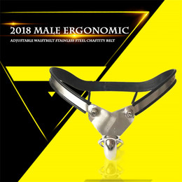 Chinese  Male Model-T Super Ergonomic Adjustable Curve Waist Stainless Steel Chastity Belt Ventilate Scrotum Groove Cock Penis Cage Bdsm Sex Toy manufacturers