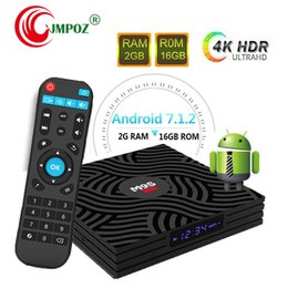 Uhd Tv Box Australia - Factory OEM ODM M9S W6 Android 7.1 Amlogic S905W Quad Core TV BOX 2GB 16GB Suppot H.265 UHD 4K 2.4GHz WiFi Set-top box Better A95X T95Q