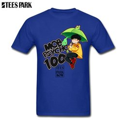 Vintage umbrella black online shopping - His And Her T Shirts Mob Psycho Umbrella Anime Vintage Tees Fitness Clothing Tee Shirt for Men Men s Funny T Shirts