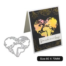 vine glass UK - Vine Heart View Cutting Dies Metal Stencil DIY Scrapbook Album Paper Card Die Cut Decor Art