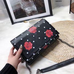Luxury Chains Australia - Famous Luxury Brand Designer Lady Chain Handbag Rose Shoulder Bags Women Flap Chain Crossbody Bag Designer Handbags Messenger Purse 11
