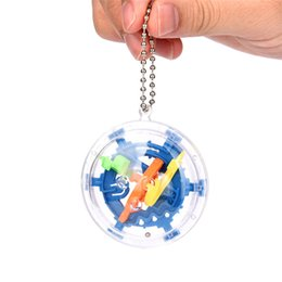 puzzle maze ball 2019 - 2019 Mini Ball Maze Intellect 3d Puzzle Toy Balance Barrier Magic Labyrinth Spherical Dropshipping Mental Exercise Toy c