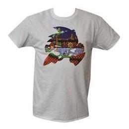$enCountryForm.capitalKeyWord Australia - T Shirt Sonic the Hedgehog MENS WHITE ALL SIZES S TO 3XL Sega Mega Drive Tails