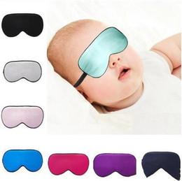 blindfolds toys NZ - Baby Silk Rest Sleep Eye Mask Padded Shade Cover Travel Relax Blindfolds Eye Cover Sleeping Mask Eye Care Beauty Tools Party Mask C1594