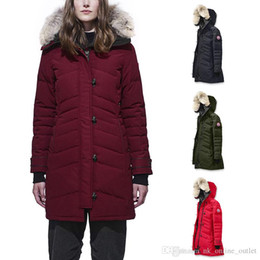 $enCountryForm.capitalKeyWord Australia - DHL Free Shipping Top Copy Canada Brand Women goose Lorette Long Parka Down Jacket Winter Arctic Coat Hoodie With Fur Sale Cheap