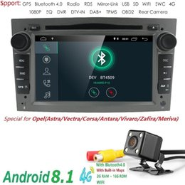 """bluetooth astra 2019 - QuadCore Android 8.1 2 Din 7"""" Car DVD Player GPS For Vauxhall Opel Antara VECTRA ZAFIRA Astra with SWC DTV DVR Blue"""