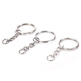 2f18c576dd07 50pcs lot 25mm DIY Polished Silver DIY Rings Hook Women Men Bag Split Ring  With Short Chain Key Rings For Metal Bag Accessories